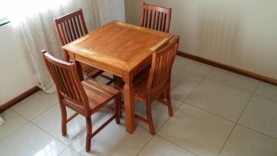 Mesa 1,20 X 0,70 + 4 Cadeiras - Frete Grátis