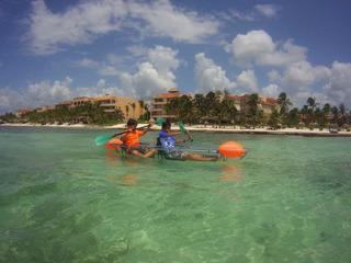 Canoa Transparente Con Remos Incluidos