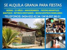 Alquiler De Granja Con Piscina En Barquisimeto Para Fiestas