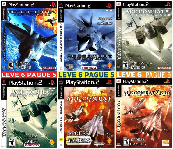 Ace Combat Collection (6 Jogos) Ps2 Desbloqueado Patchs