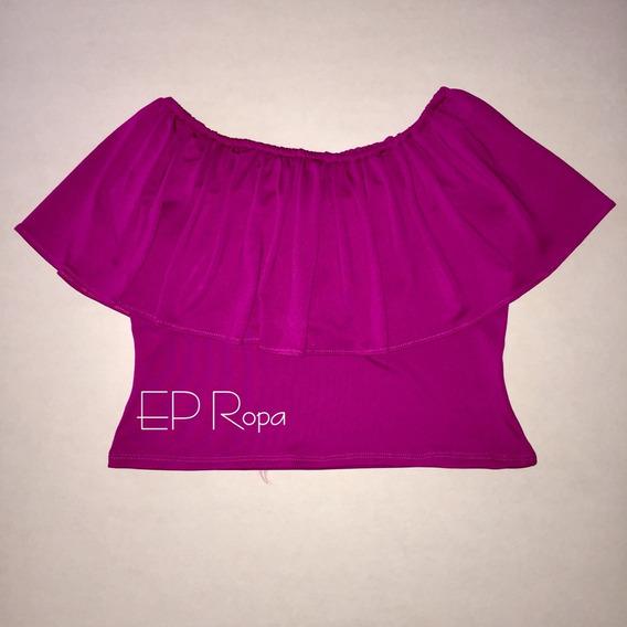 Blusa Corta Campesina Crop Top Estampados Moda Para Mujer