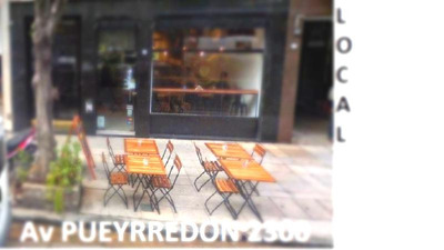 Alquiler Av Pueyrredon 2300 Local - Recoleta Apto Gastronomia