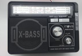 Radio Antigo Inova Rad-8144 Vintage Usb Sd Recarregável Biv.