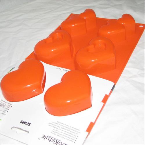 Molde Silicon Ponque 6 Corazones  Vela Arcilla Sc1409