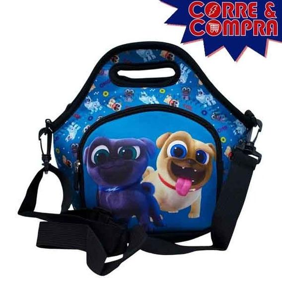 Bolsa Térmica Azul Puppy Dog Pals Passeio Cachorro - Disney