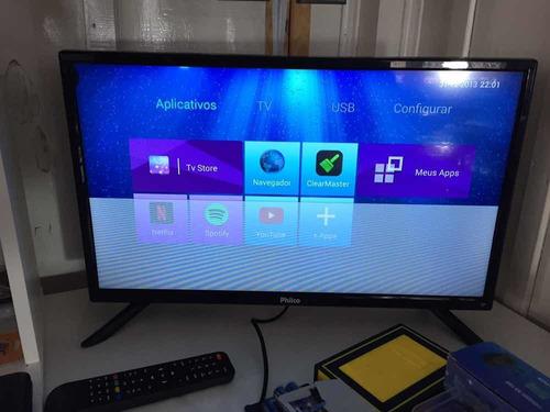 Tv Smart 24 Fullhd Com Linha Conserto Ou Usar Assim Ou Peças