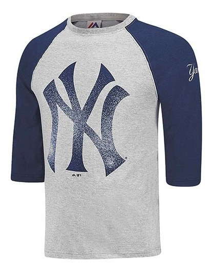 Playera Beisbol Hombre Yankees Majestic Mfadqio-ny Azul S5