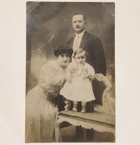 Tarjeta Postal Familia Niña 1916 Tensi Fotografía