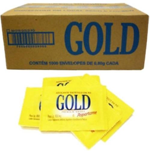 Adoçante Gold Aspartame Cx C/ 1.000 Envelopes De 600 Mg Cada