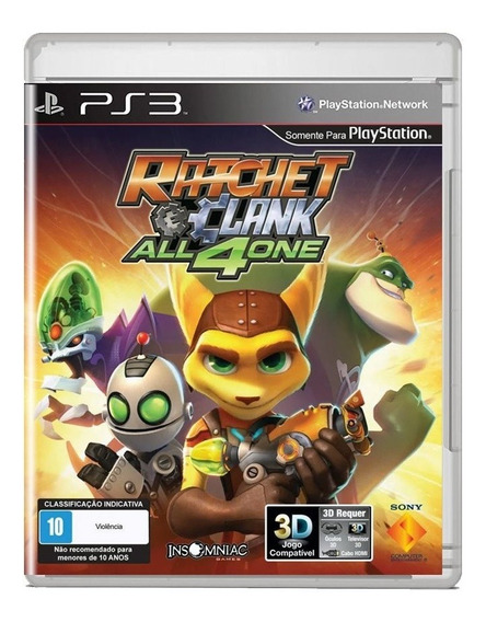 Ratchet And Clank All 4 One Ps3 Midia Fisica