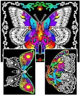 Geo Butterfly - Poster De Terciopelo Borroso De 23x20 Para C