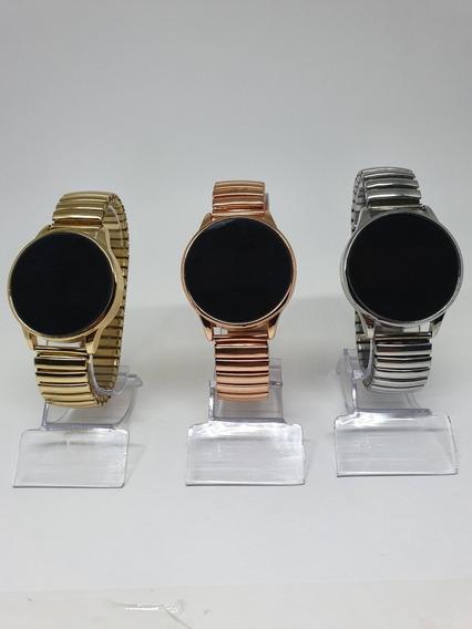 19 Relógios Touch Screnn Femininos Led Redondo