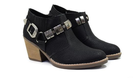 Texana Mujer Bota Botineta Zapato Nueva Temporada