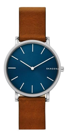 Reloj Caballero Skagen Hagen Skw6446 Color Café De Piel