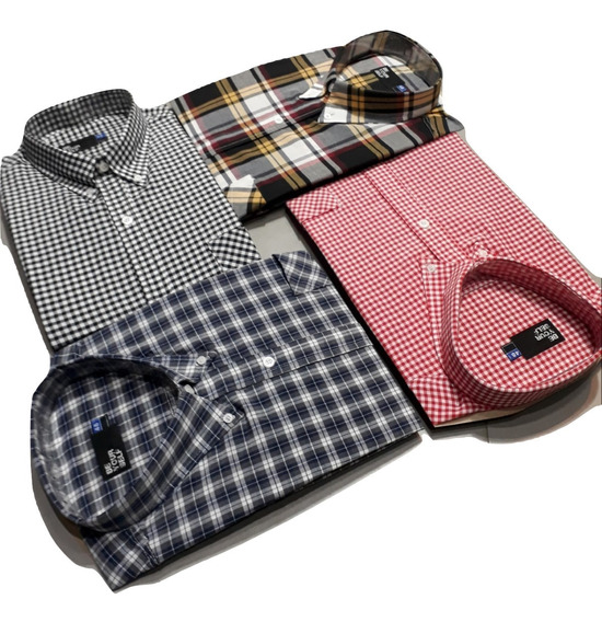 6 Camisas Talle Especial Manga Larga Hombre 46-48-50-52