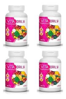 Kit 4 Melhor Polivitaminico Para Homens Complexo De Vitamina