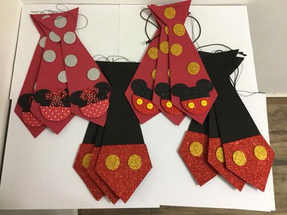 20 Corbata De Mickey. Fiestas Temáticas. Infantiles.
