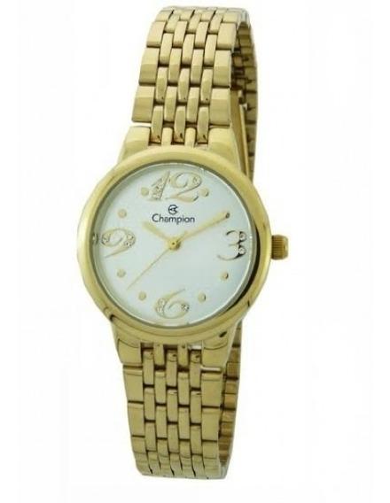 Relógio Feminino Champion Dourado Pequeno Original Ch24919h