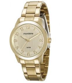 Relógio Mondaine 78707lpmvda1 Pulso Ouro Dourado Números