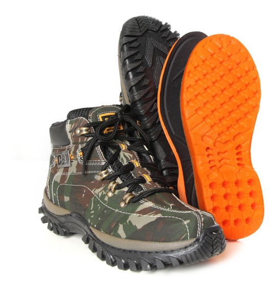 Bota Coturno Adventure Caterpillar Camuflada Original 2019