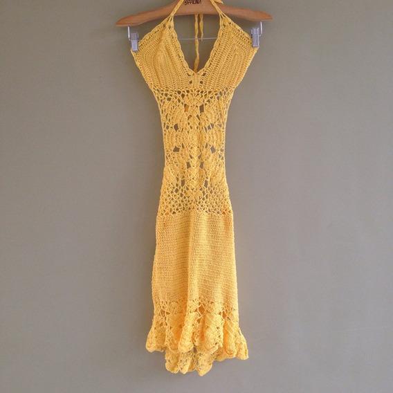 Vestido Crochê Decote