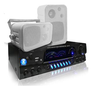 Combo Música Funcional Consola Aw1611 Bluetooth Usb+2 Bafles