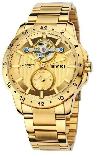 Relógio De Pulso Masculino Eyki E-w-105 Dourado