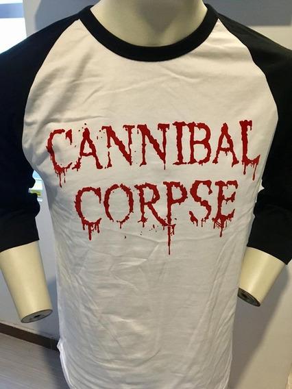 Cannibal Corpse Dripping Logo 3/4 Sleeve Baseball Tee T-sh