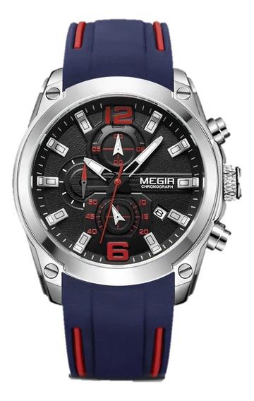Relógio Megir Masculino Original Casual Esportivo Funcional