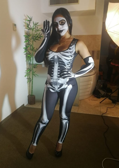 Disfraz Catrina Esqueleto Coco Halloween
