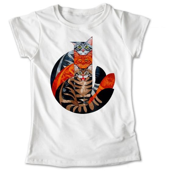Blusa Gatos Colores Mascota Playera Estampado #575