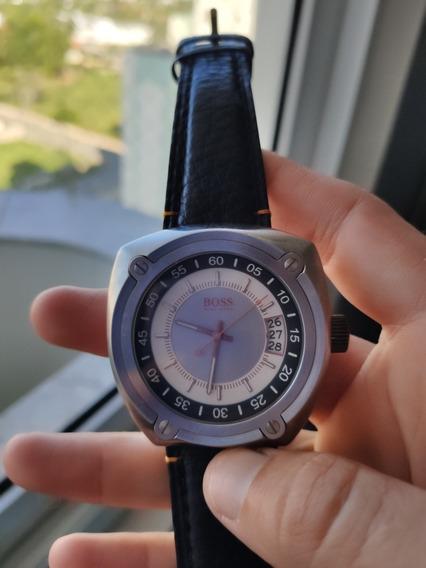 Imperdível!! Relógio Hugo Boss Com Ponteiros Laranjas! Lindo