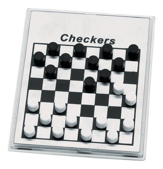 Mini Jogo De Dama Peças Magnéticas Brancas E Pretas Incasa