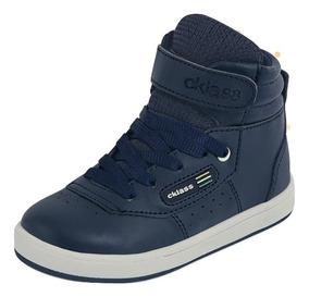 Tenis Sneaker Cklass Bota Niños Sint Contac Azul 71792 Dtt