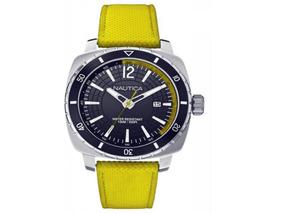 Relógio Nautica Nst-301 Amarelo