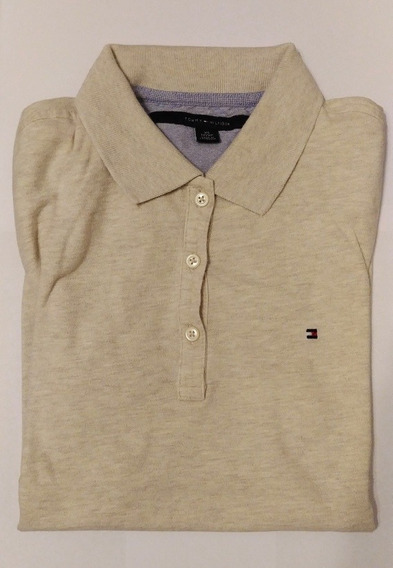 Chomba Tommy Hilfiger Original Mujer Talle Xs Color Beige