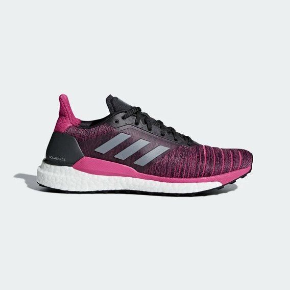 Zapatillas adidas Running Solar Glide Rosa Oscuro C/ Negro