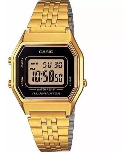 Relógio Casio Vintage Retro La680wga 1df Com Caixa