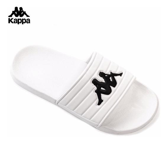 Ojotas Kappa Hombre Mujer Unisex Logo Matese Blanco Negro