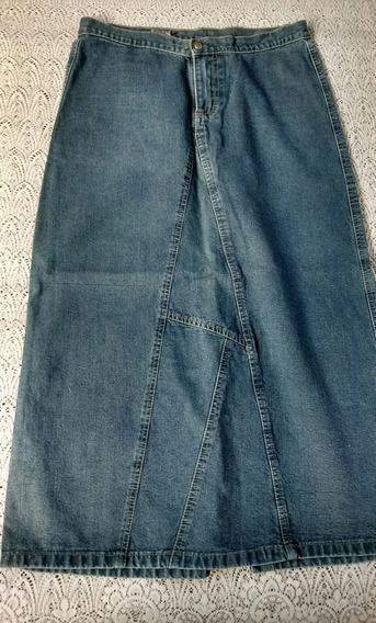 Saia Longa Jeans Tam 38 Moda Evangélica Stretch