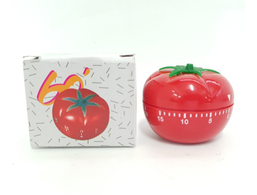 Imagen 1 de 4 de Timer De Cocina Con Forma De Tomate