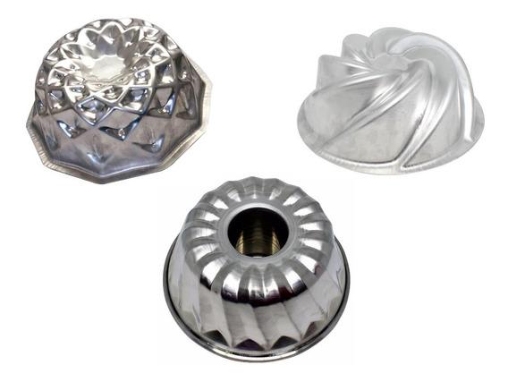 Forma Para Bolo Mosaico + Espiral + Vulcão Em Alumínio