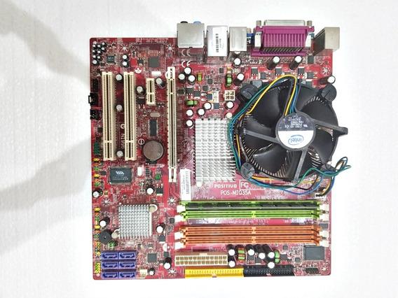 Kit Placa Mãe Mi945aa + Intel Core 2 Duo + 2gb + Cooler