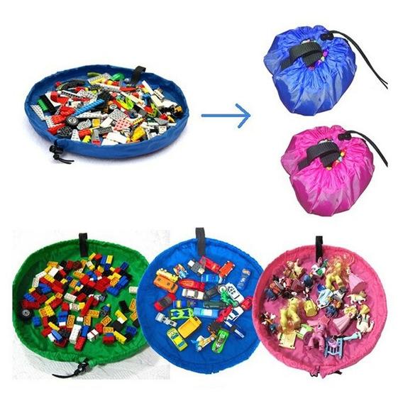 Organizador Saco De Brinquedos Vira Bolsa Lego Tapete Menina