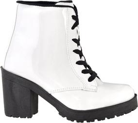8643836ca Nudes Lata Coturno - Sapatos para Feminino Branco no Mercado Livre ...
