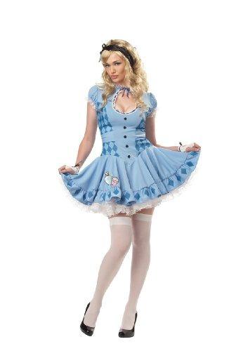 Disfraz Dulce California Disfraces Mujer Alice, Azul, Medio