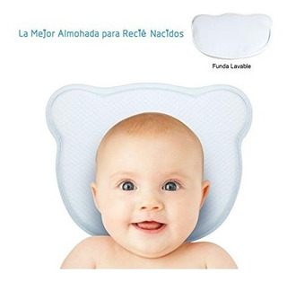 Almohada Bebé Para Cabeza Plana Con Funda Lavable