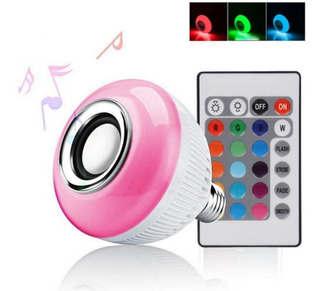 Lampara Led Rgb 12w E27 220 Parlante Bluetooth Colores Foco