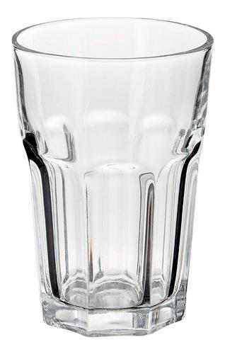 Set X12 Vasos Vidrio Grueso Resistente Facetado Durax Oslo