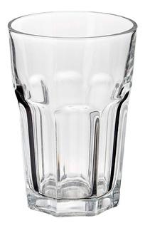 Set 6 Vasos De Vidrio Grueso Resistente Facetado Durax Oslo Bebidas Vaso Trago Largo Alto Para Cerveza Tragos - 400 Ml